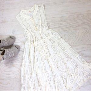 Free People / Ivory Lace Tunic Slip Dress S